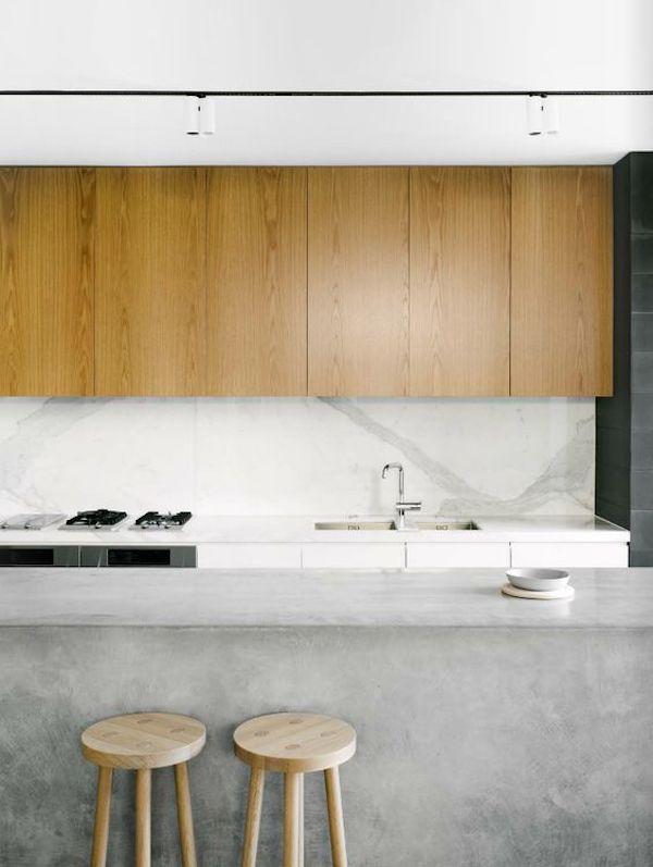 kuchnia, wyspa, industrialna, beton, surowa