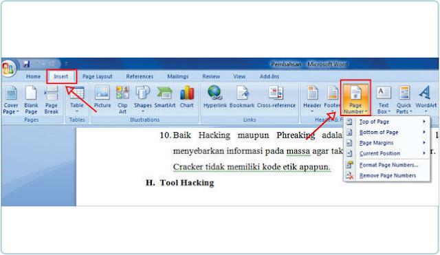 Cara Membuat Nomor Halaman Di Microsft Word
