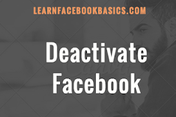 Deactivate Your Facebook Account Tutorial