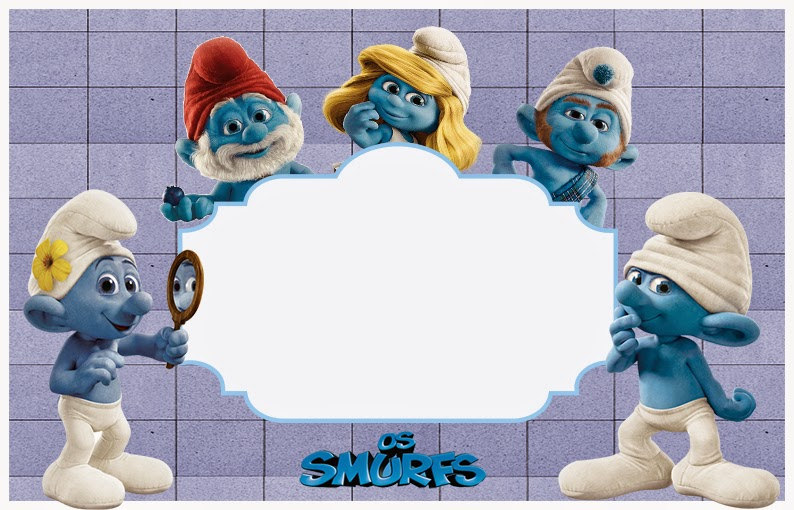 The Smurfs Free: Printable Invitations or Photo Frames ...