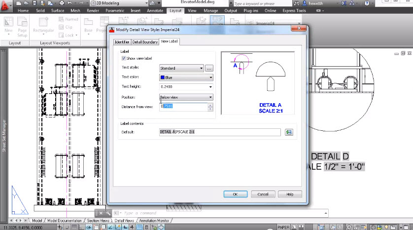 Drawing Detail Views Autocad 2013