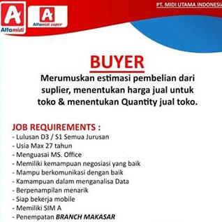 Lowongan Kerja Buyer di PT. Midi Utama Indonesia, Tbk