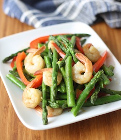 thai asparagus stur fry with shrimp recipe