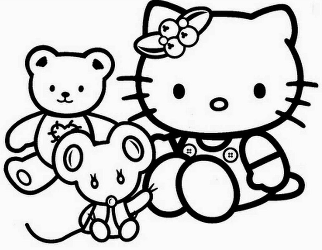 Gambar Kartun Yang Belum Diwarnai Hello Kitty Gokil Abis
