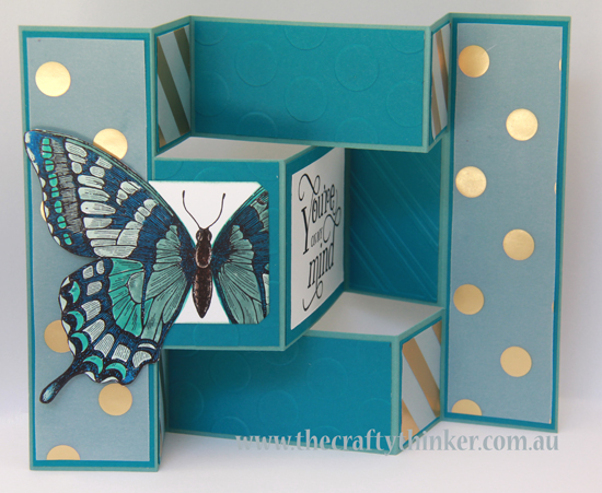SU, Swallowtail, Butterfly, Tri-fold card, Trifold card, Tri fold shutter card, Fancy Foil vellum