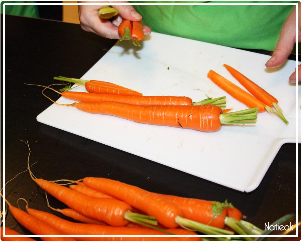 Dips de carottes primeurs glacées siphon wasabi