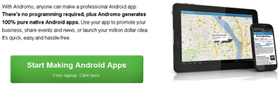 Andromo - Make an Android App. No Coding Required.