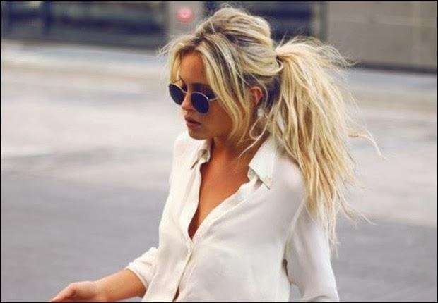 blond girls with ponytail via belle vivir blog