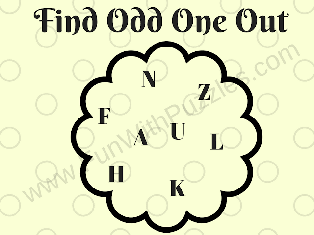Letters Odd One Out Teens Puzzle