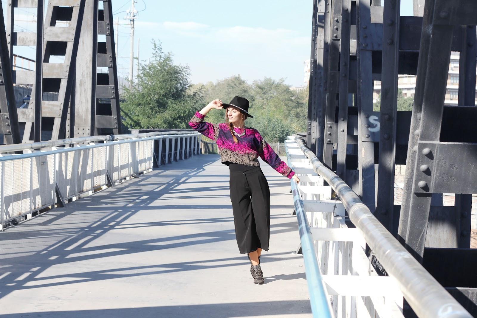 fashion blogger pescara italy italia outfit ootd style vogue fratelli rossetti shoes scarpe derby dandy goa goa happiness boutique zara bag borsa nera black hat