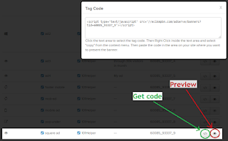 how to get ad codes to earn money