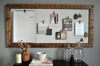 http://www.littleglassjar.com/2015/04/15/diy-office-memo-board/