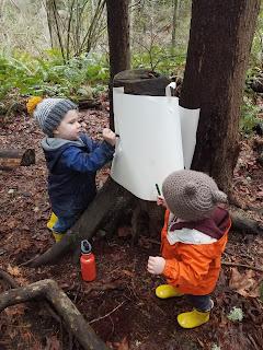 Bark Tracing with Preschoolers