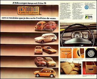 propaganda Volks- 1973 - linha 74, propaganda Volkswagen - 1973, vw anos 70, carros Volkswagen década de 70, anos 70; carro antigo Volks, década de 70, Oswaldo Hernandez,