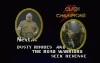 NWA CLASH OF THE CHAMPIONS 1 - 1988: Dusty Rhodes & The Road Warriors lost a barbed wire match to Ivan Koloff and The Powers of Pain