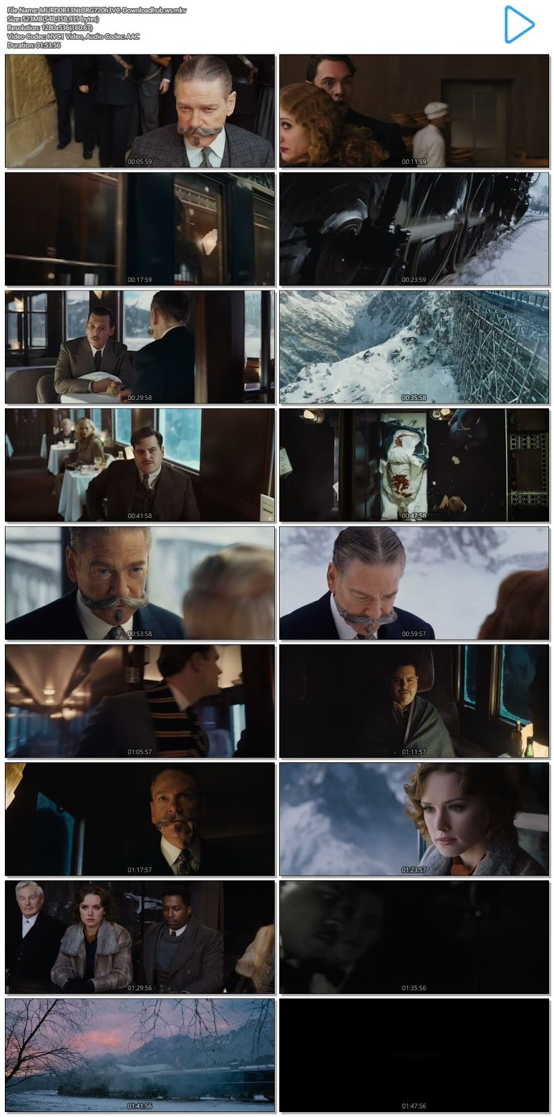 Murder on the Orient Express 2017 Hindi Dual Audio 720p HEVC BluRay Free Download