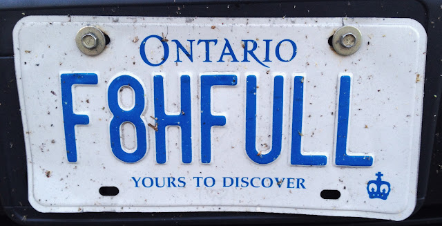 Ontario personalized licence plate F8HFULL
