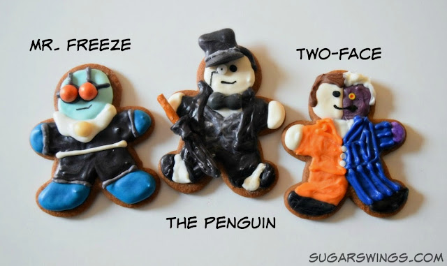 Mr. Freeze The Penguin Two-Face cookies
