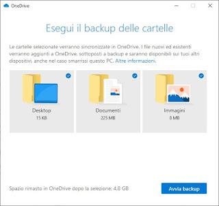 Sincronizzazione OneDrive