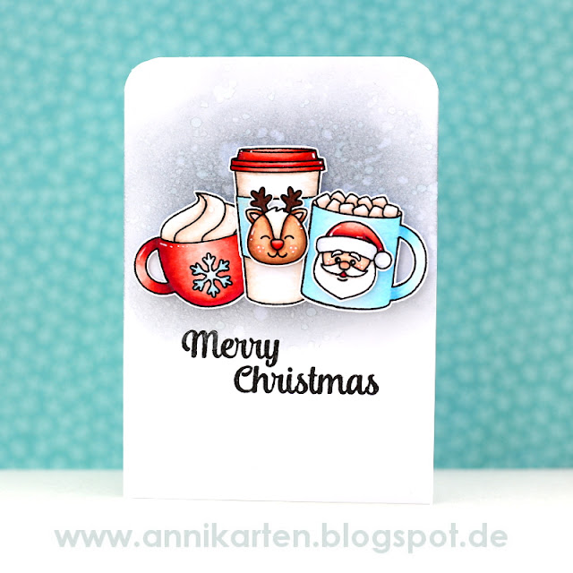 Sunny Studio Stamps: Christmas Icons & Mug Hugs Holiday Card by Anni Lerche.
