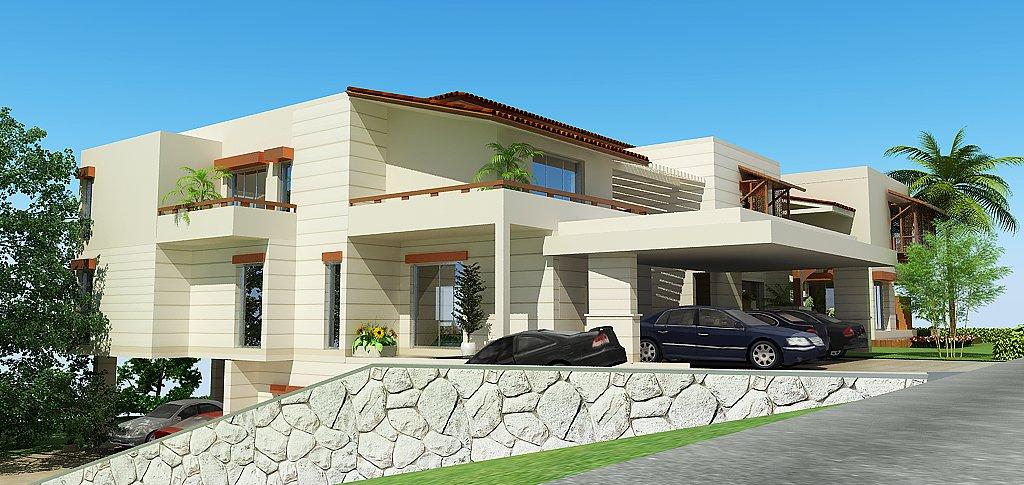Lahore Pakistan 3d Front Elevation House Design House Plans