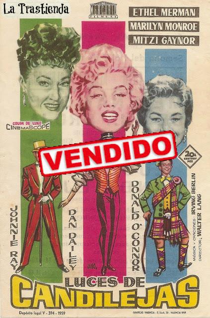 Programa de Cine - Luces de Candilejas - Ethel Merman - Marilyn Monroe - Mitzi Gaynor - Donald O'Connor