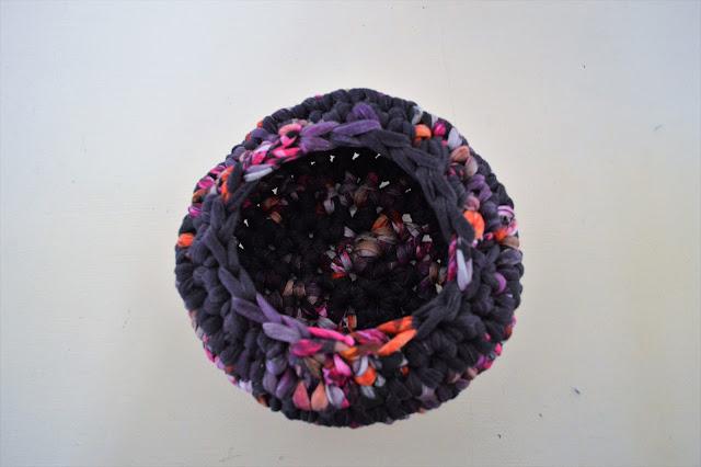 trapilho tuto crochet diy panier vide poche