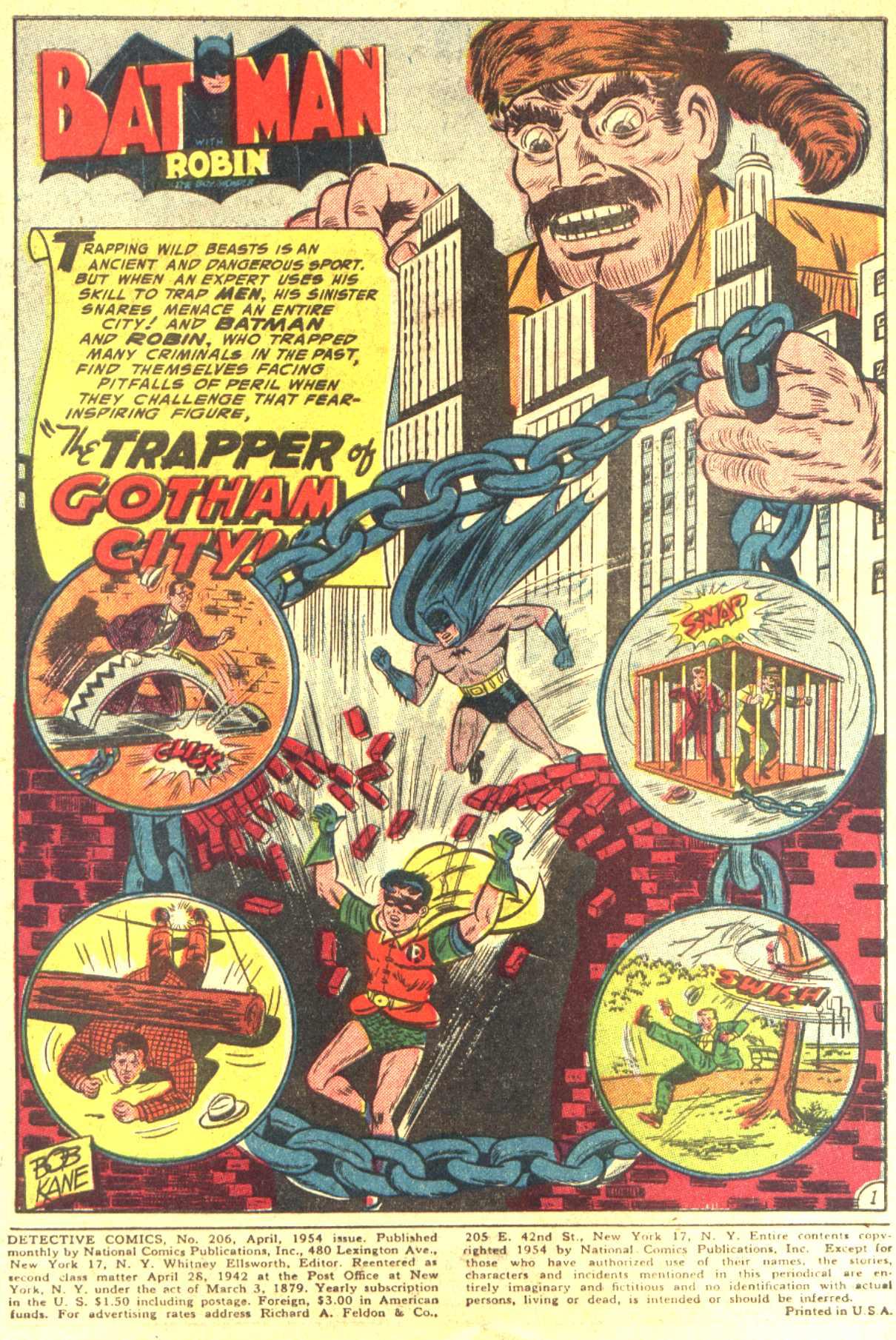 Read online Detective Comics (1937) comic -  Issue #206 - 1