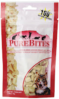 Cats love PureBites freeze-dried chicken treats.