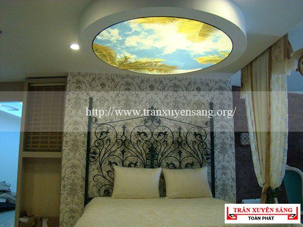 Mẫu trần phòng ngủ in bầu trời 2