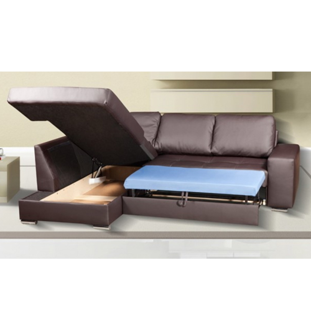 Klik Klak Sofa With Storage Modern Blueprints Click Clack Bed | Chair Leather ...