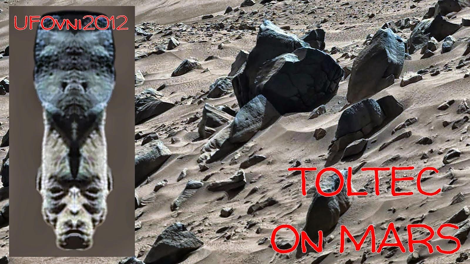 Νέες! Περίεργες Ανακαλύψεις στον Άρη: Πρόσωπο Τολτέκων, αρχαία κτίσματα, σύμβολο σφηνοειδούς γραφής χαραγμένο στο βράχο (ΒΙΝΤΕΟ)