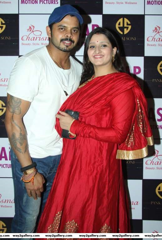 Sreesanth and wife Bhuvneshwari Kumari were among the celebrities at Manik Sonis birthday bash