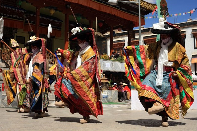 Cham Dance performance at Ladakh festival