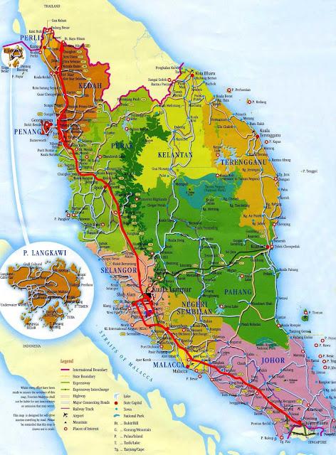 خريطة ماليزيا Malaysia Map