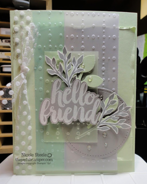 Thinking of You card using Seriously The Best and So Very Vellum Specialty Designer Series Paper | Stampin' Up! | Sale-A-Bration | Nicole Steele The Joyful Stamper