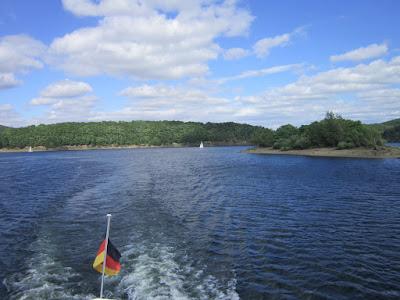 Fotografia da paisagem no lago Rursee