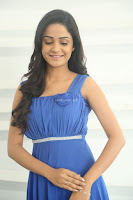 Divya Nandini stunning Beauty in blue Dress at Trendz Exhibition Launch ~  Celebrities Galleries 050.JPG