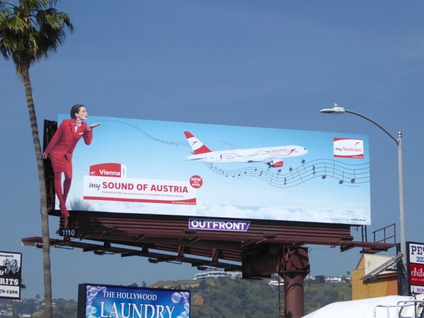 My Austrian airline billboard