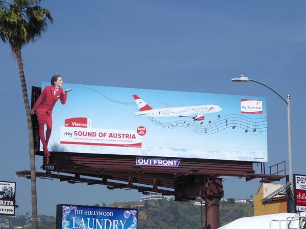 My Austrian airline billboard