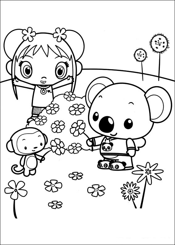 fun coloring pages ni hao kai lan coloring pages