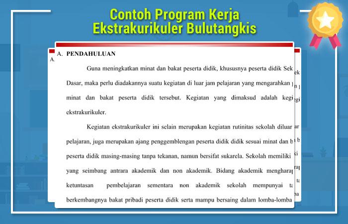 Program Kerja Ekstrakurikuler Bulutangkis