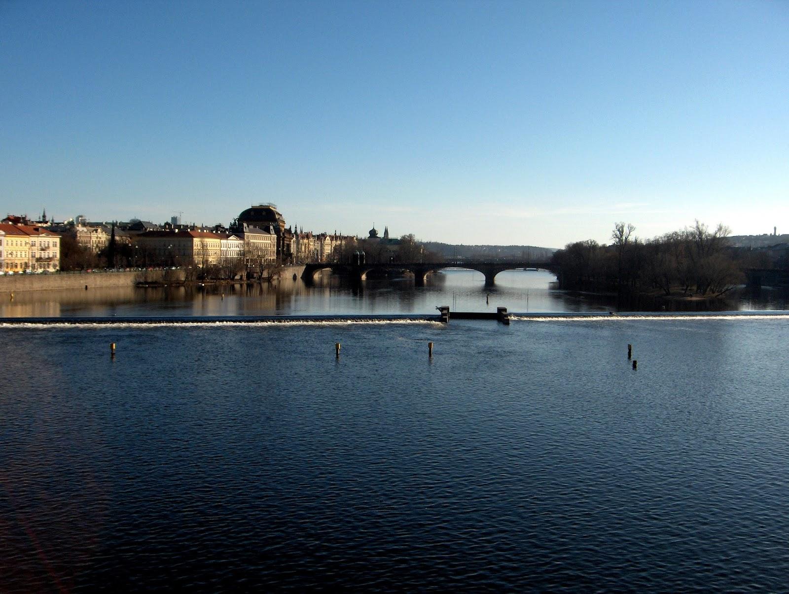 prague, river, bridge