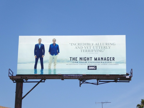 Night Manager Emmy consideration billboard