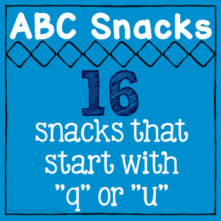 food that starts with u, snacks that start with u, snacks start with q, letter of the week q, letter of the week u, letter of the week snacks, homeschool snacks, preschool snacks