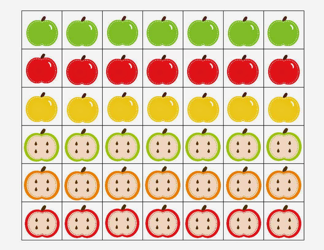 This is a picture of Accomplished Apple Pattern Printable