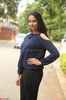 Poojita Super Cute Smile in Blue Top black Trousers at Darsakudu press meet ~ Celebrities Galleries 047.JPG