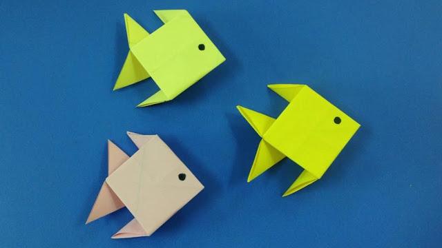طريقة عمل سمكة بالورق للاطفال