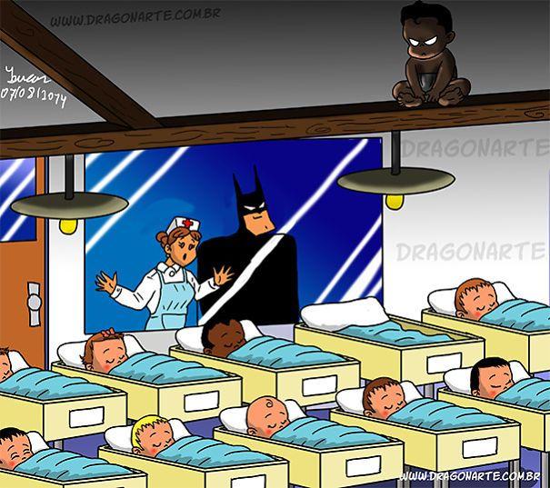 Batman's Baby,ابطال خارقون مع أطفالهم