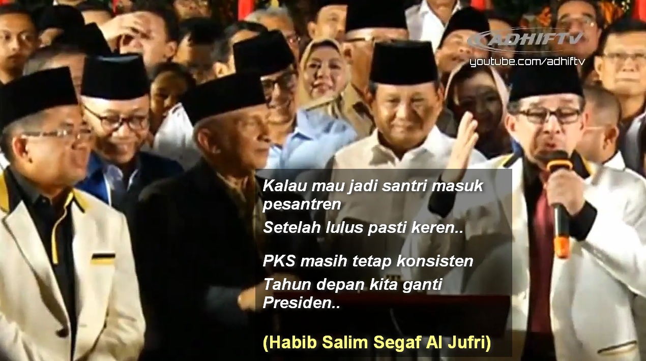 PANTUN KEREN Habib Salim Sambut Deklarasi Prabowo Sandi PORTAL ISLAM